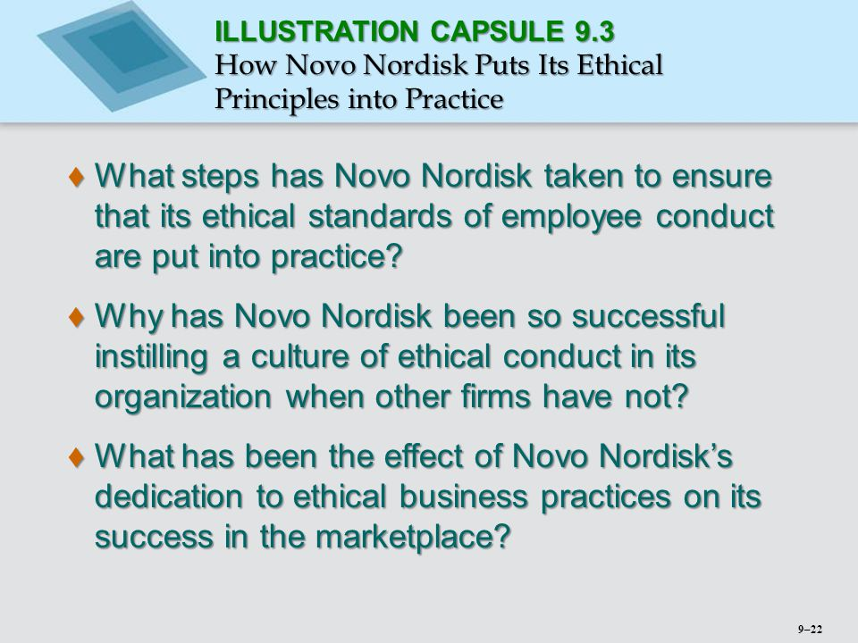 ILLUSTRATION CAPSULE 9.3 How Novo Nordisk Puts Its Ethical Principles into Practice