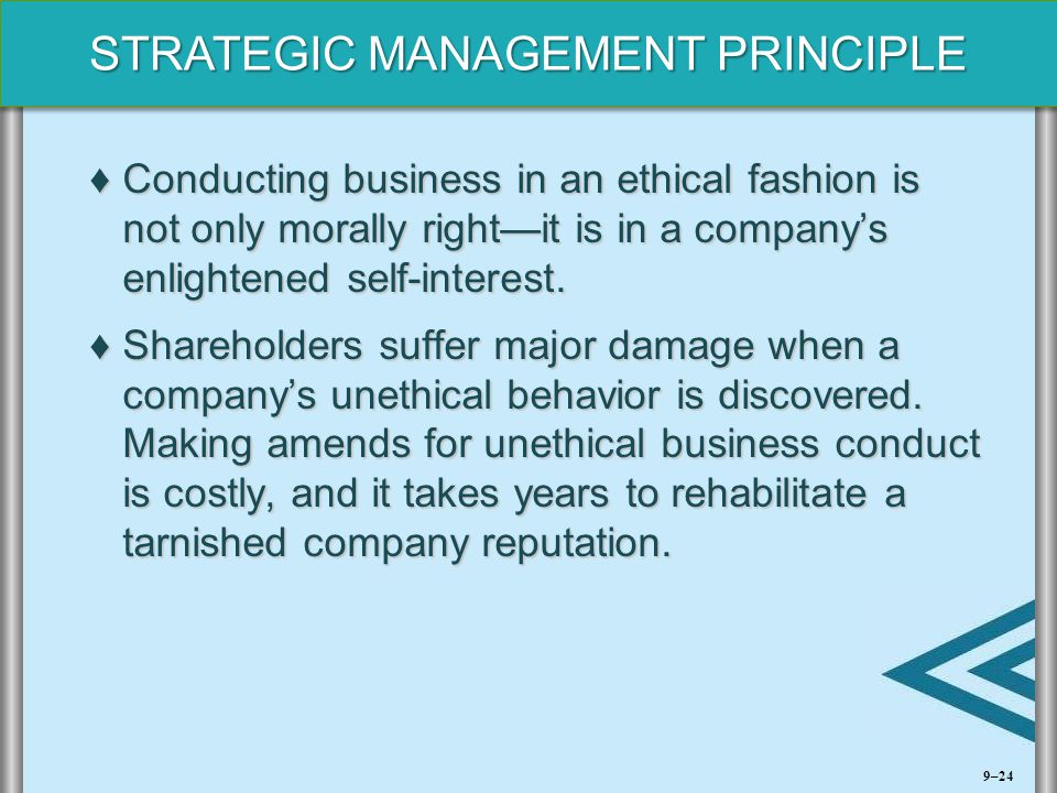 Conducting business in an ethical fashion is not only morally right—it is in a company's enlightened self-interest.