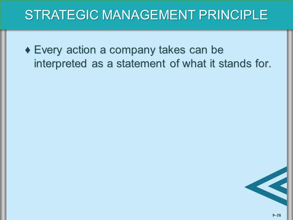 Every action a company takes can be interpreted as a statement of what it stands for.