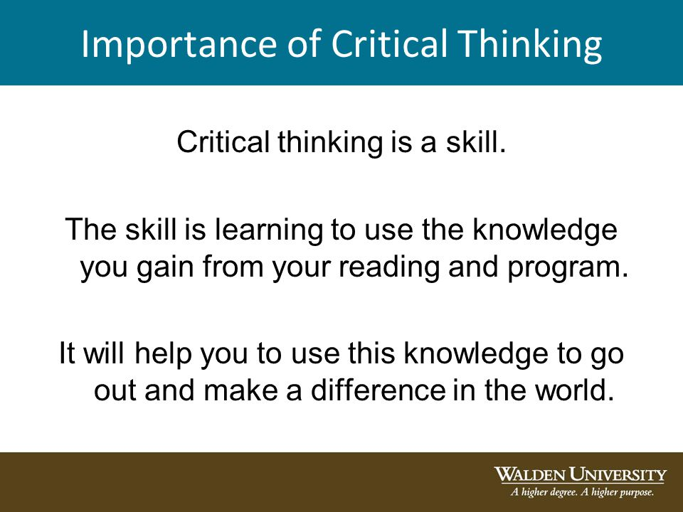 importance of critical
