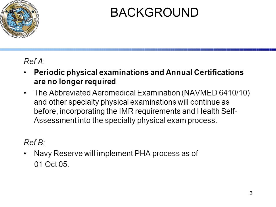 ANNUAL PERIODIC HEALTH ASSESSMENT (PHA) PROCESS - ppt video