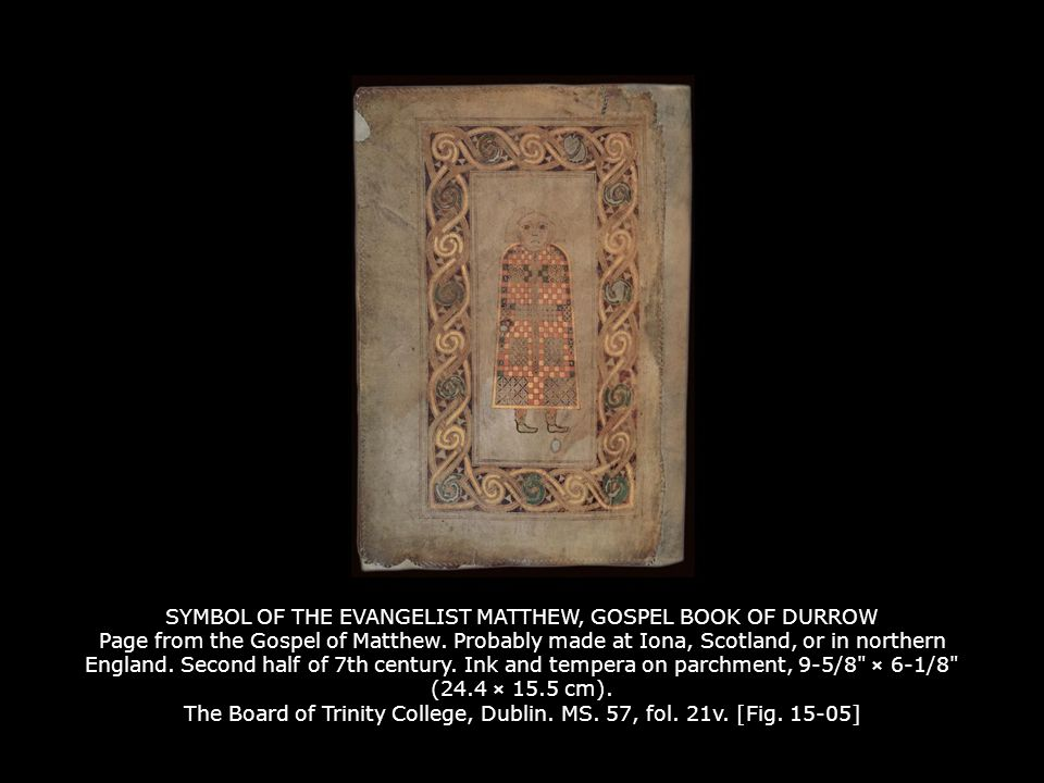 Chi Rho Iota Page From The Book Of Kells Probably Made At Iona
