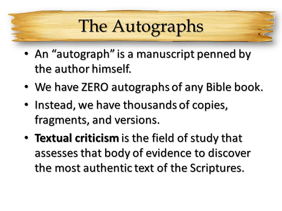 textual criticism new testament