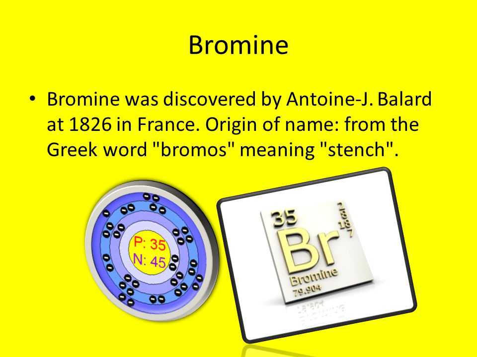 Periodic table web elements ppt download 4 bromine urtaz Gallery