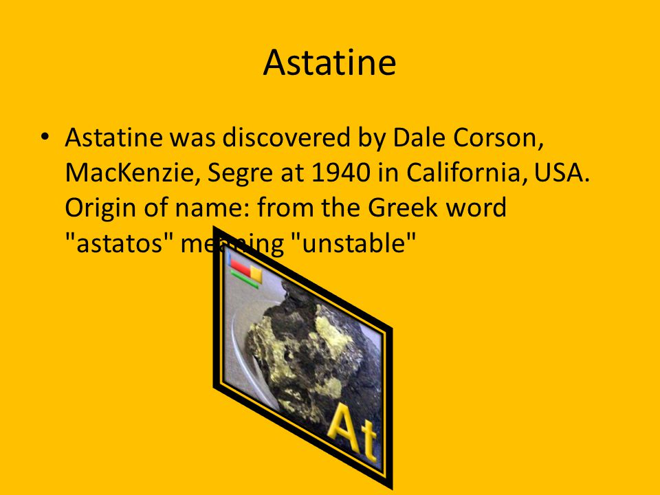 Periodic table web elements ppt download 5 astatine urtaz Image collections