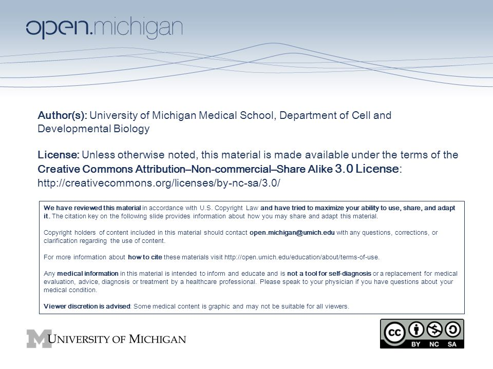 author(s): university of michigan medical school, department of cell