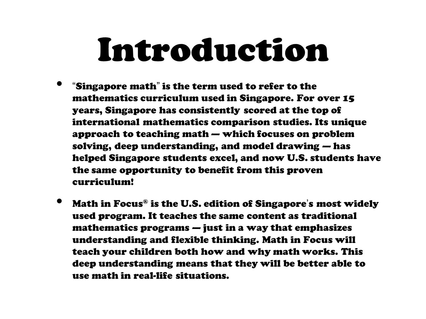 Introduction to singapore