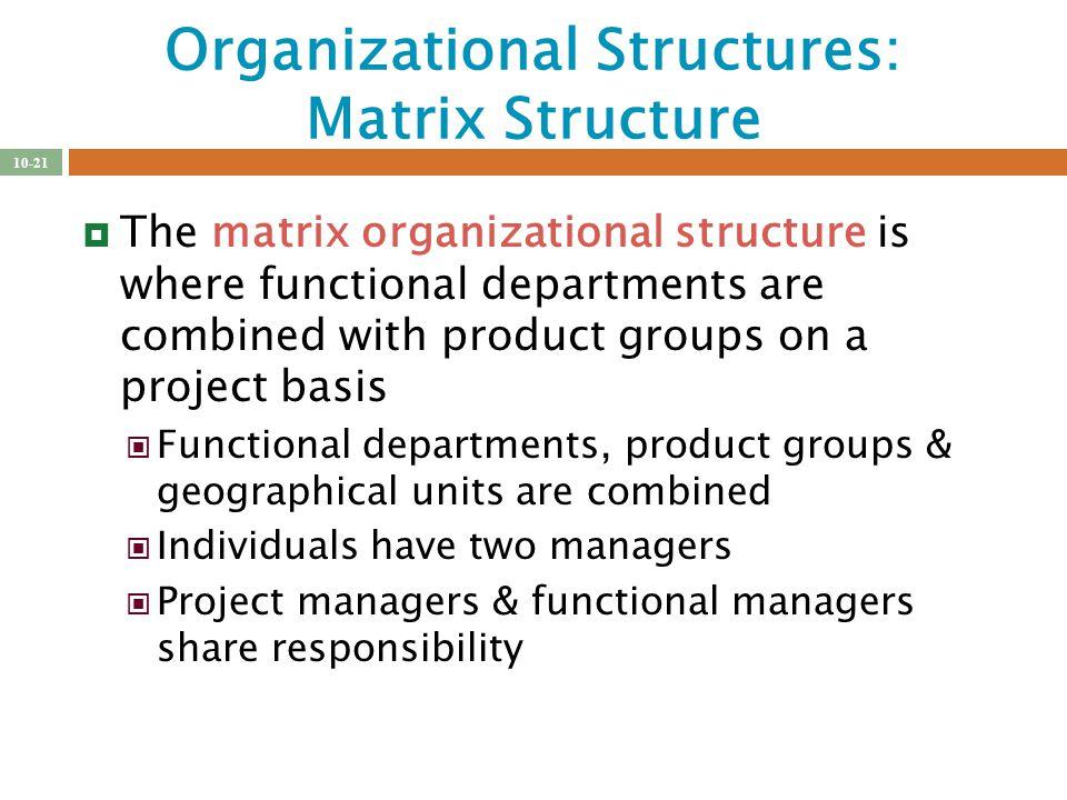 matrix organizational structure definition