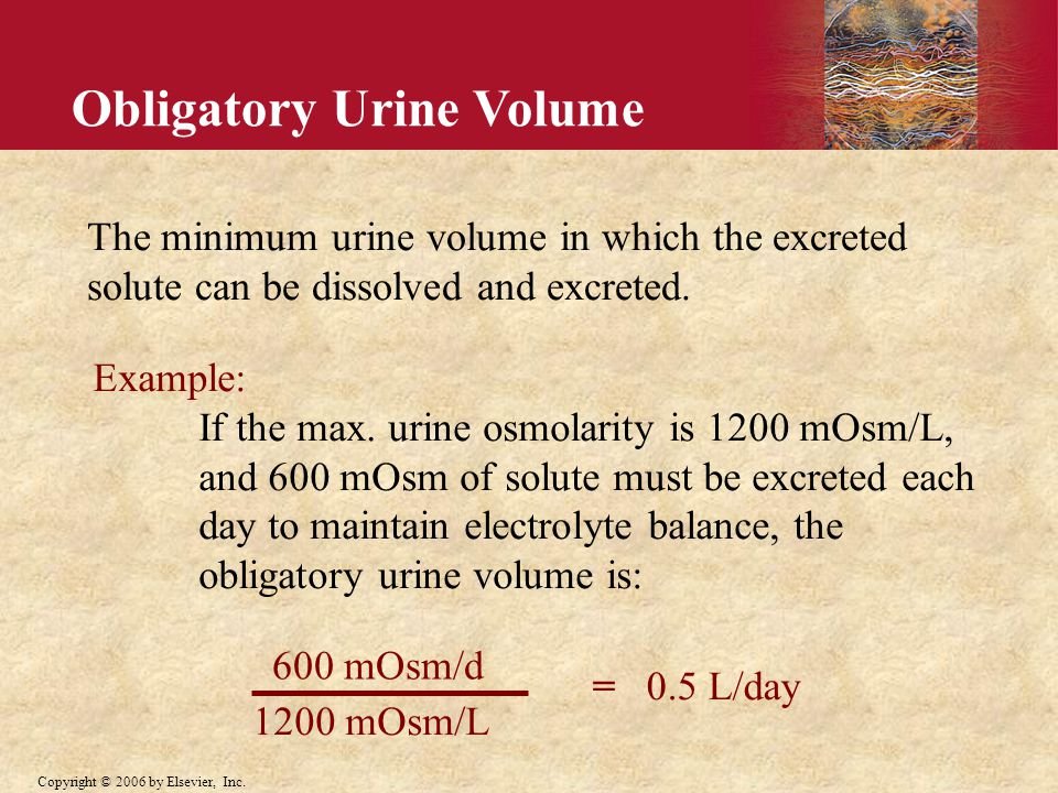 Obligatory Urine Volume