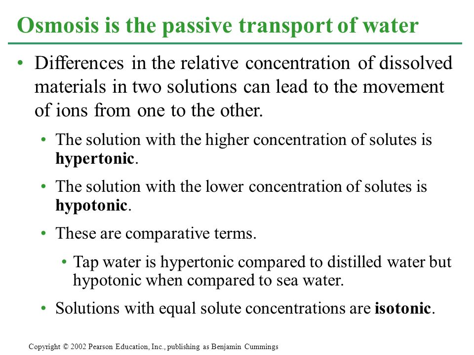 Objective 7 Tswbat Compare Hypoosmotic Hyperosmotic And Isoosmotic