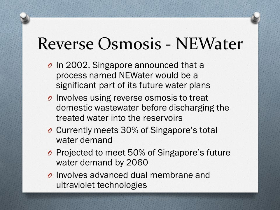Reverse Osmosis - NEWater