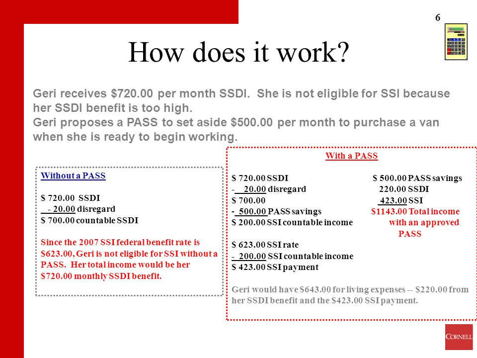 SSI's PASS: A Tool for Loan Applicants with Work Goals - ppt