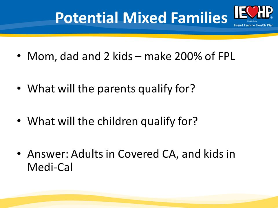 Potential Mixed Families