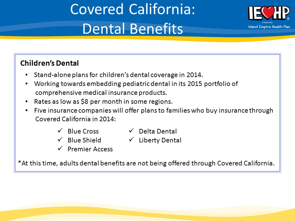 Covered California: Dental Benefits