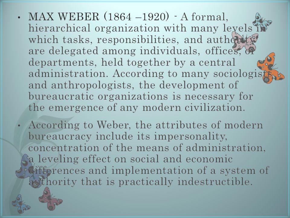 attributes of bureaucracy