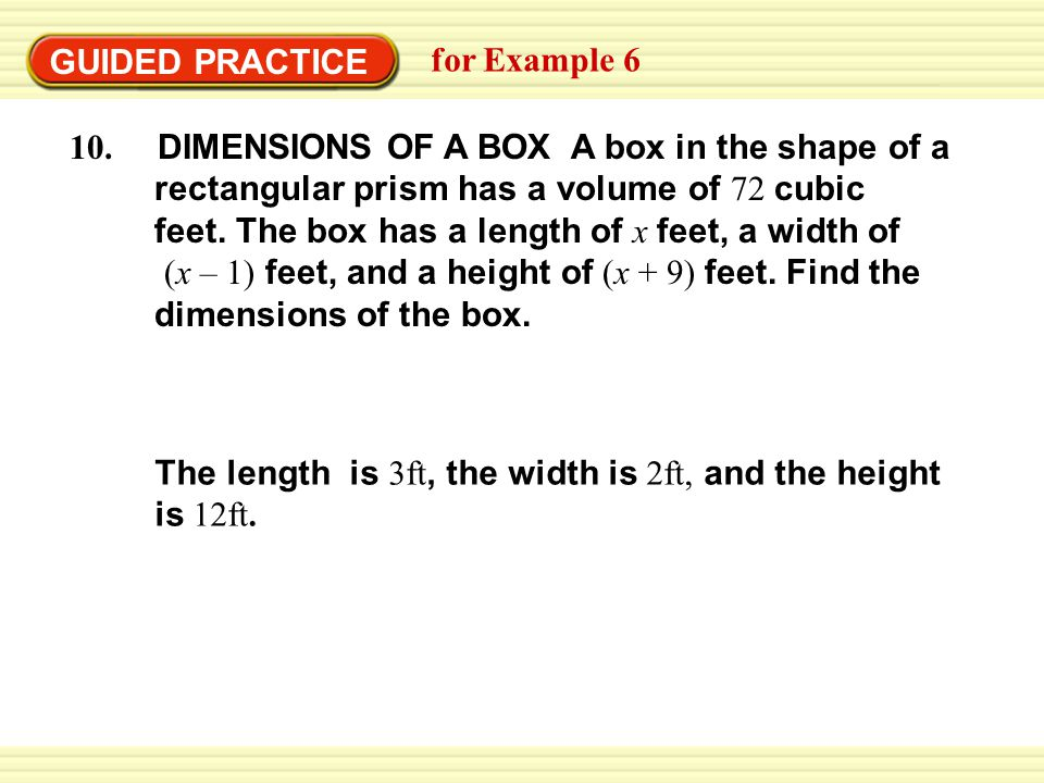 GUIDED PRACTICE for Example 6.