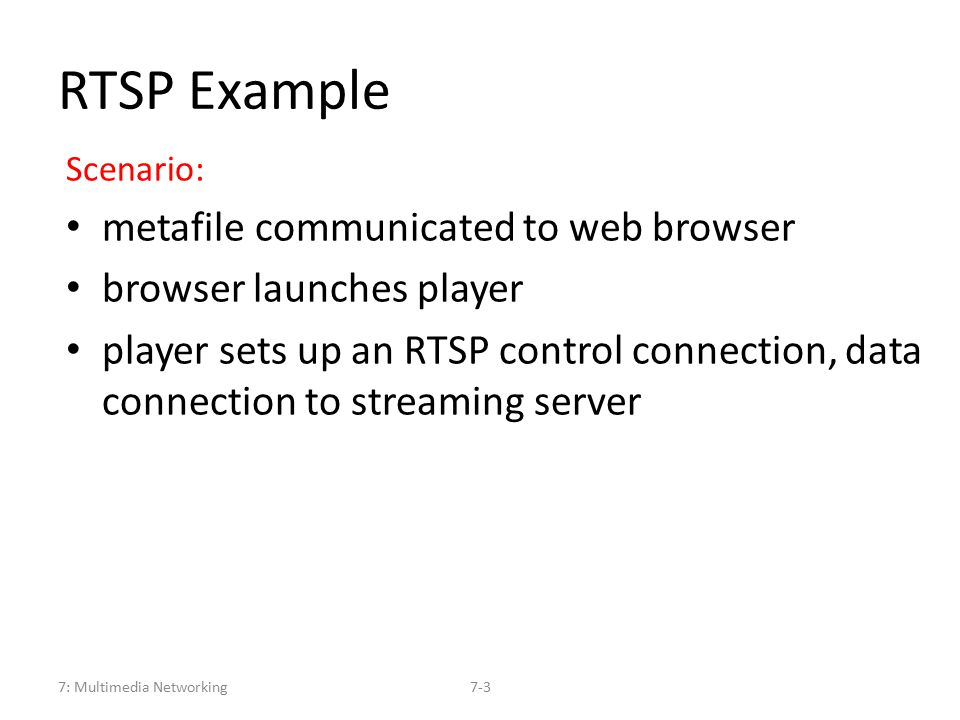 User Control of Streaming Media: RTSP - ppt video online