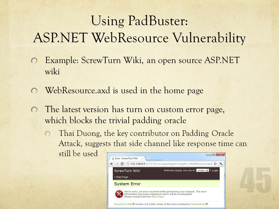 Advanced Web Hack: Padding Oracle Attack - ppt download