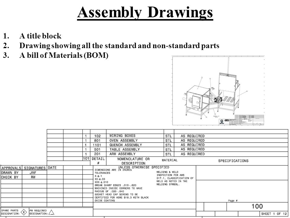 Chapter 20 working drawings ppt video online download 5 assembly ccuart Choice Image