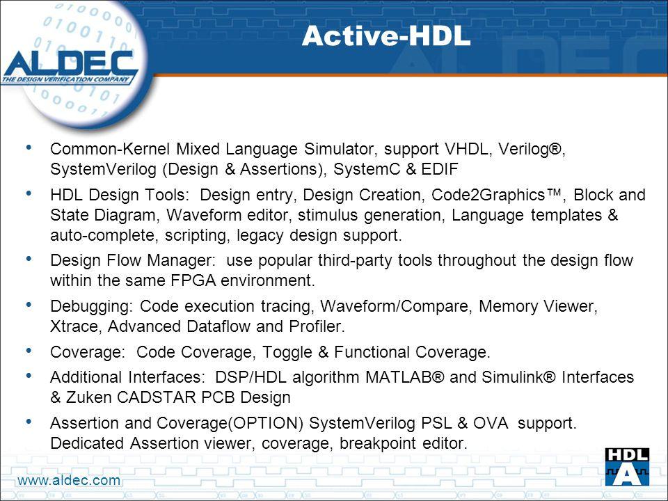 Aldec – The Design Verification Company - ppt download
