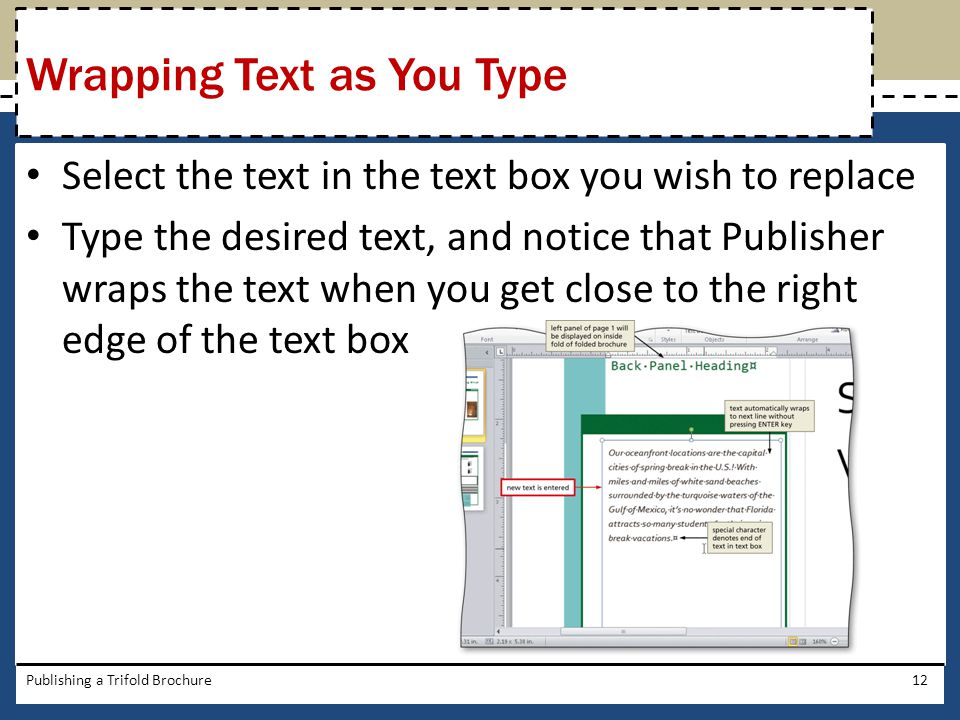 Wrapping Text as You Type