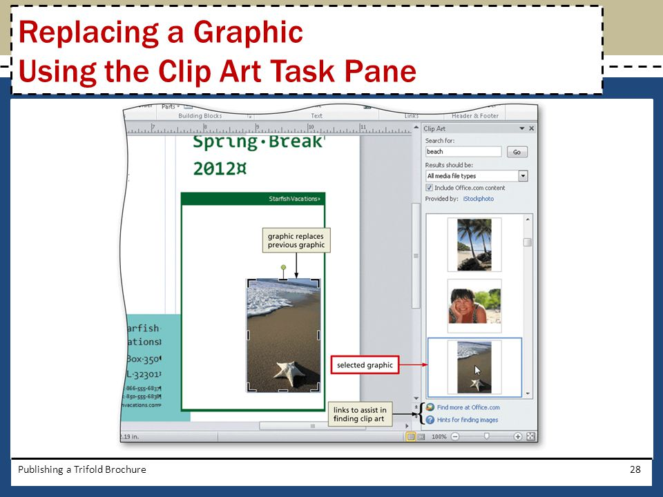 Replacing a Graphic Using the Clip Art Task Pane