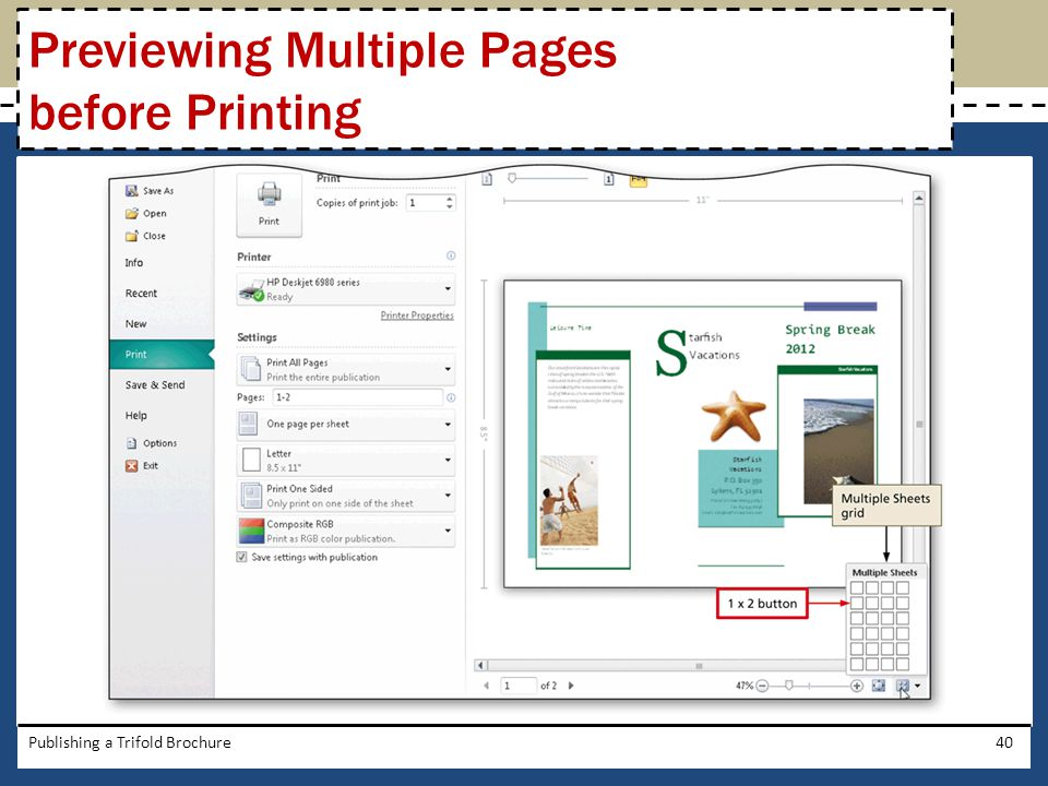 Previewing Multiple Pages before Printing