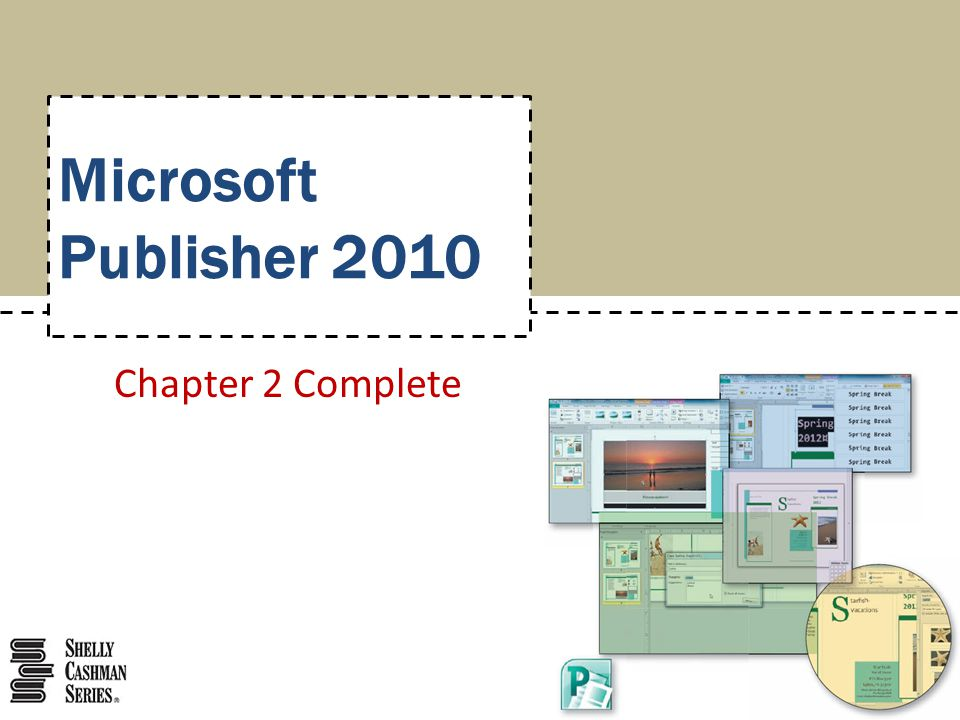 Microsoft Publisher 2010 Chapter 2 Complete