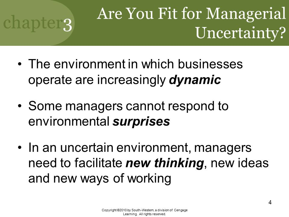 Are You Fit for Managerial Uncertainty