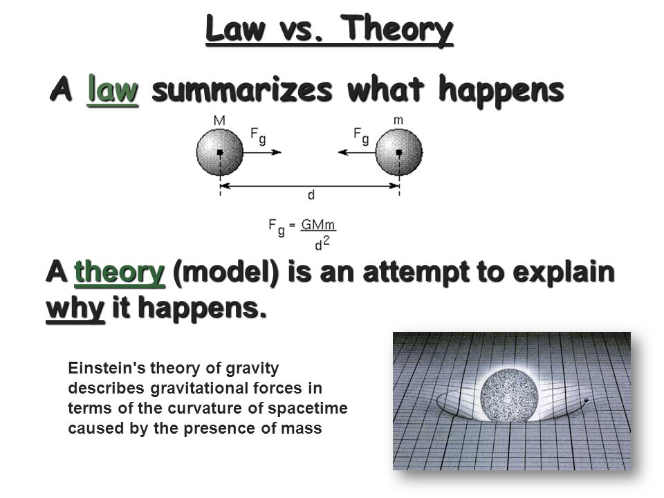 A law summarizes what happens