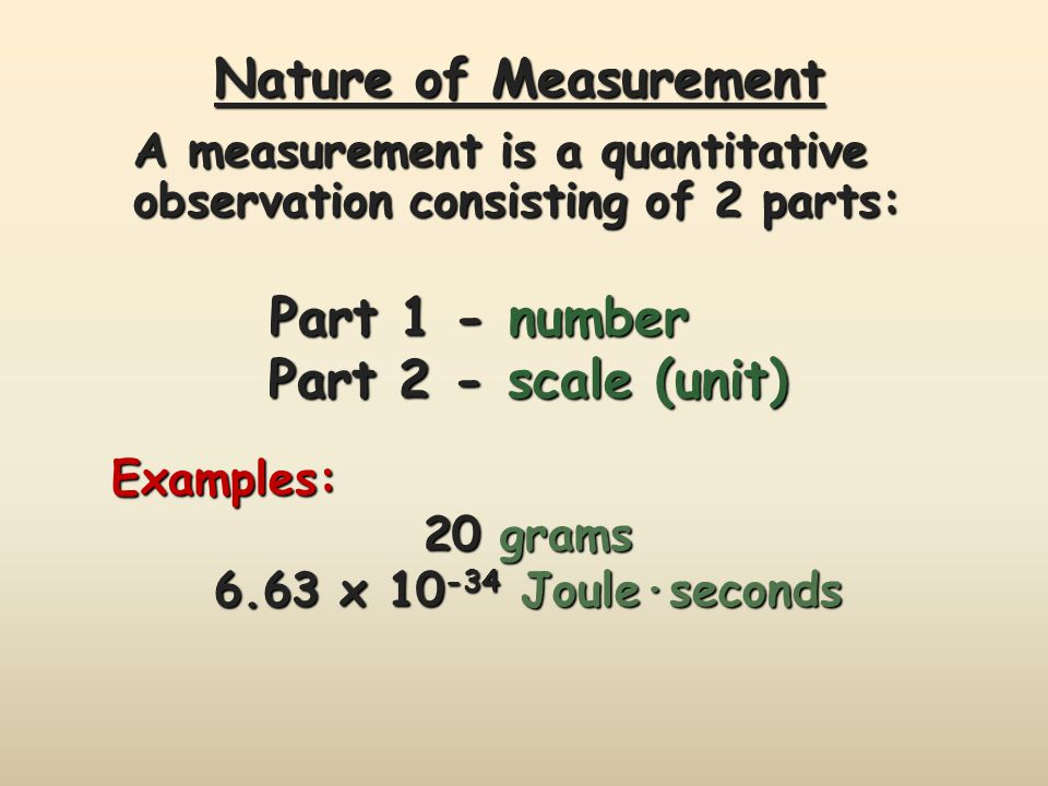 Nature of Measurement Part 2 - scale (unit)