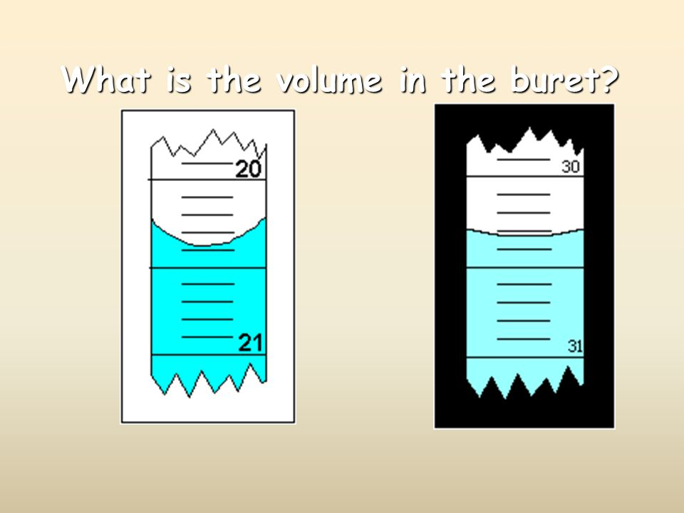 What is the volume in the buret