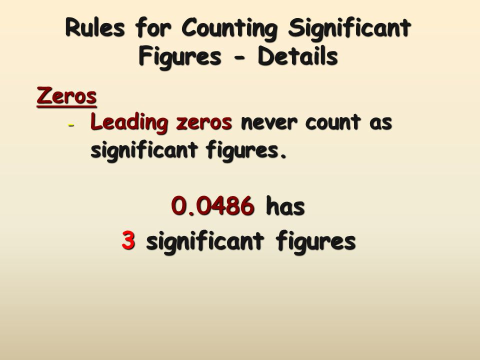 Rules for Counting Significant Figures - Details