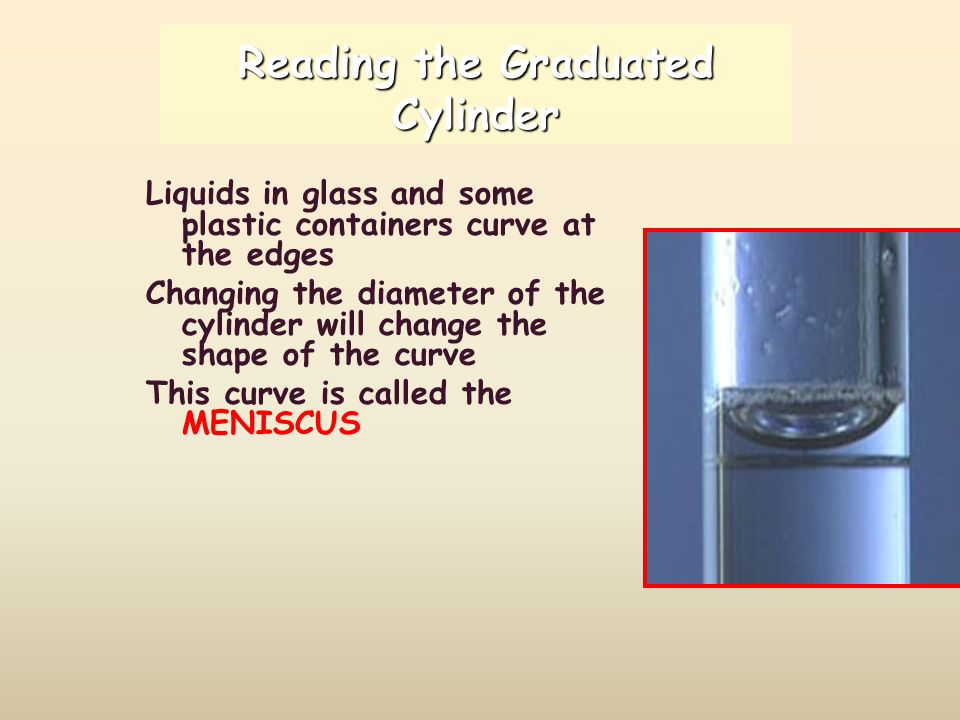 Reading the Graduated Cylinder