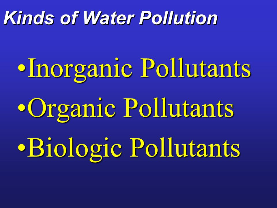 Kinds of Water Pollution