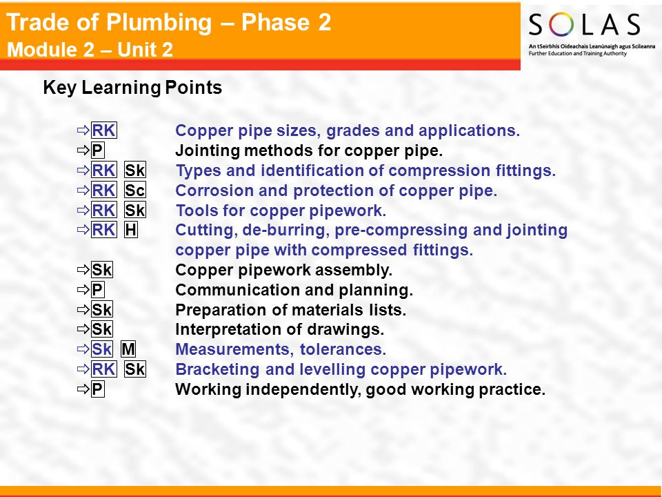 Key Learning Points Rk Copper Pipe Sizes Grades And Lications