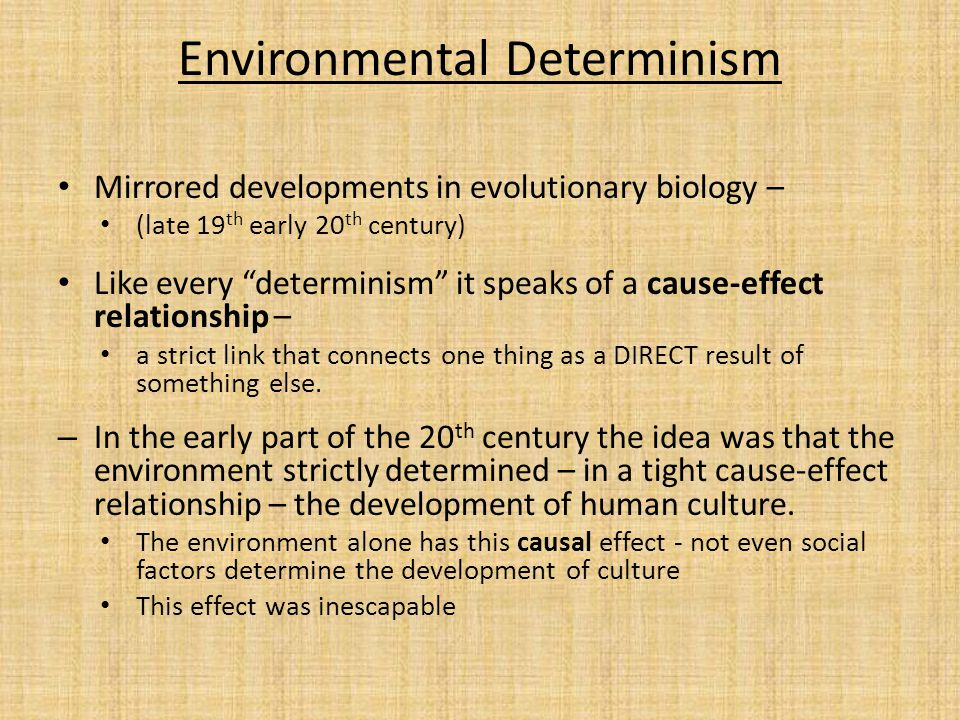 Environmental determinism: definition, examples & theory video.