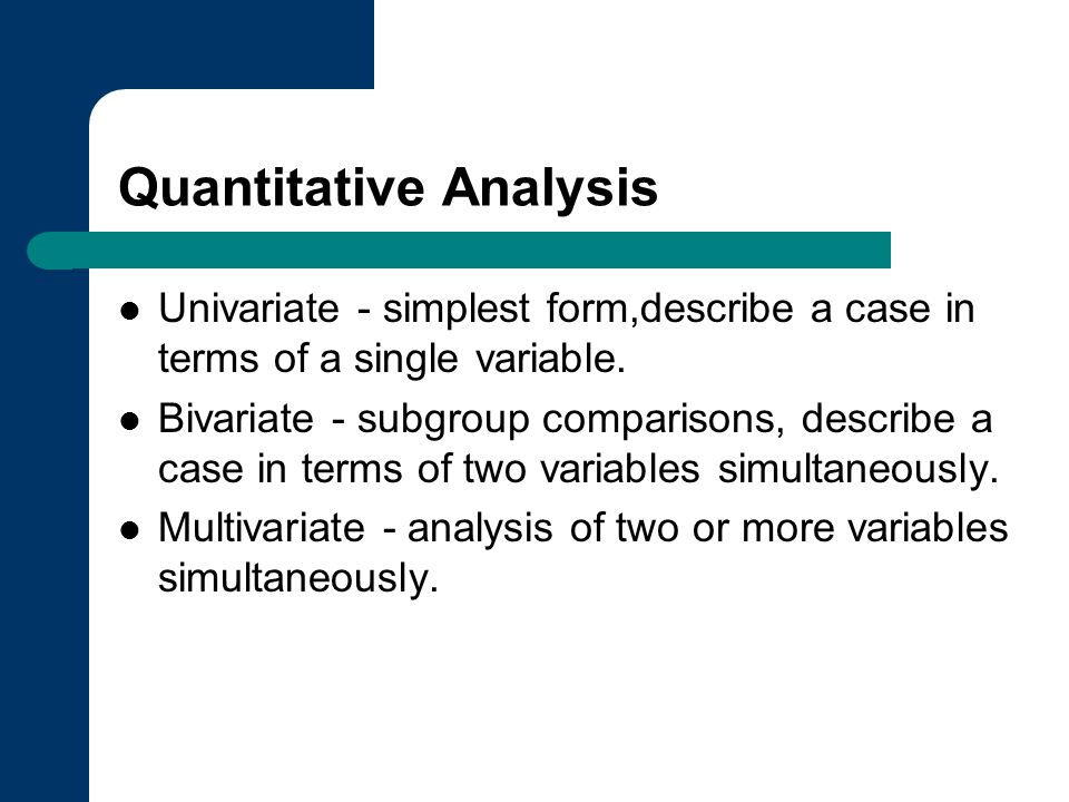 Statistical analysis method multivariate analysis improving.