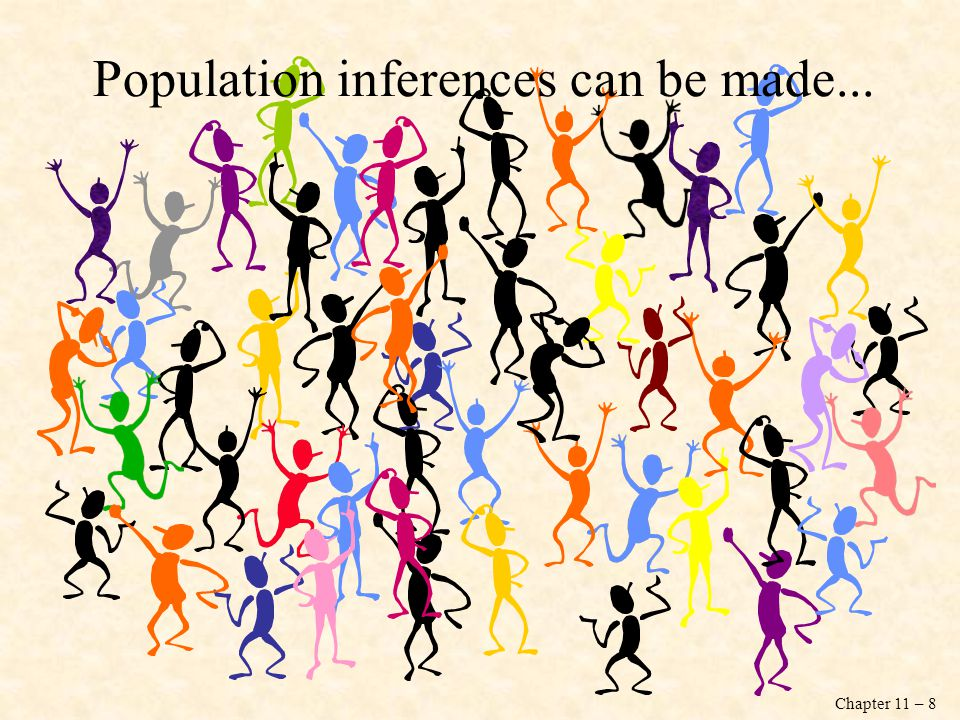 Population inferences can be made...