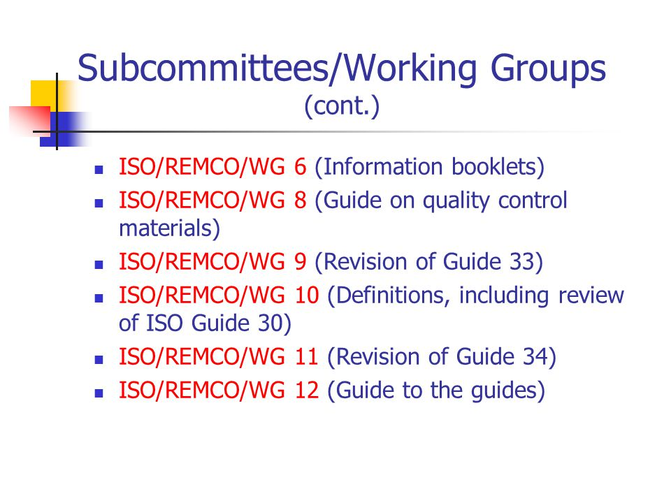iso committee on reference materials ppt video online download rh slideplayer com iso guide 30 2015 iso guide 30 terms and definitions used in connection with reference materials