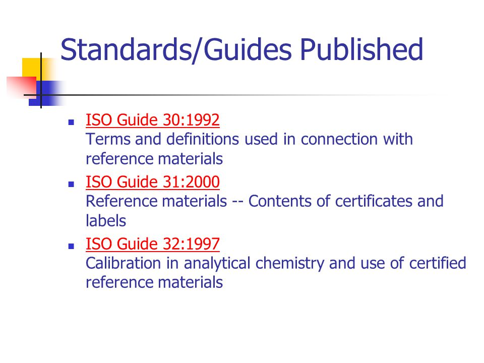 iso committee on reference materials ppt video online download rh slideplayer com iso guide 30 1992 iso guide 30 terms and definitions used in connection with reference materials