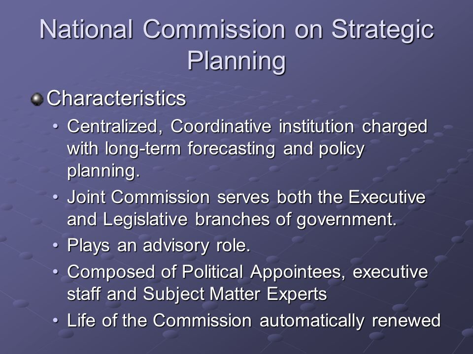 National Commission on Strategic Planning