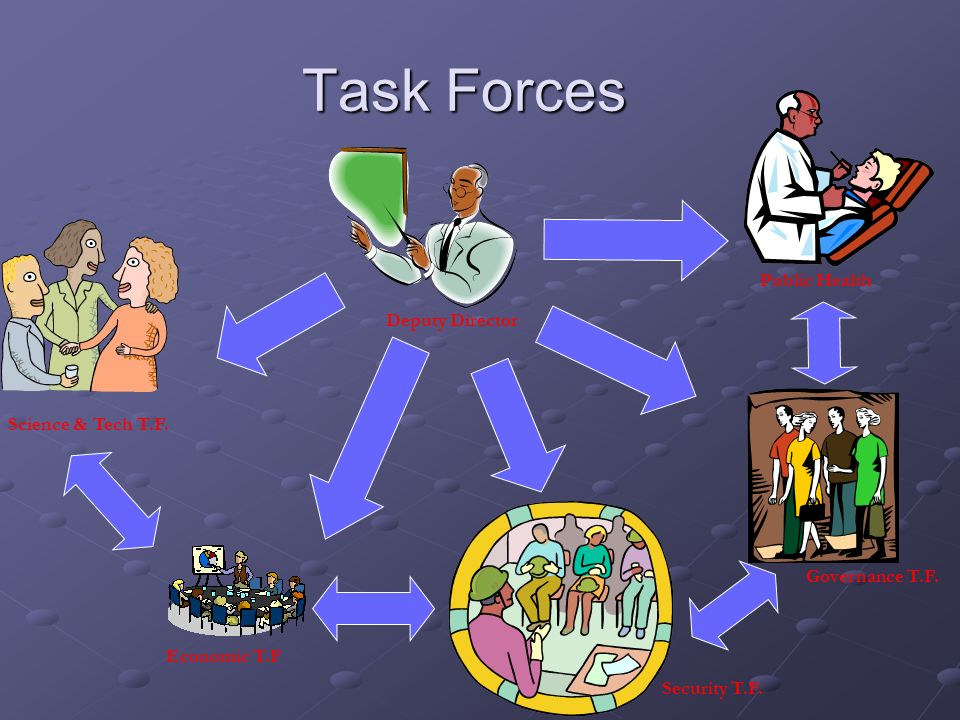 Task Forces Public Health Deputy Director Science & Tech T.F.