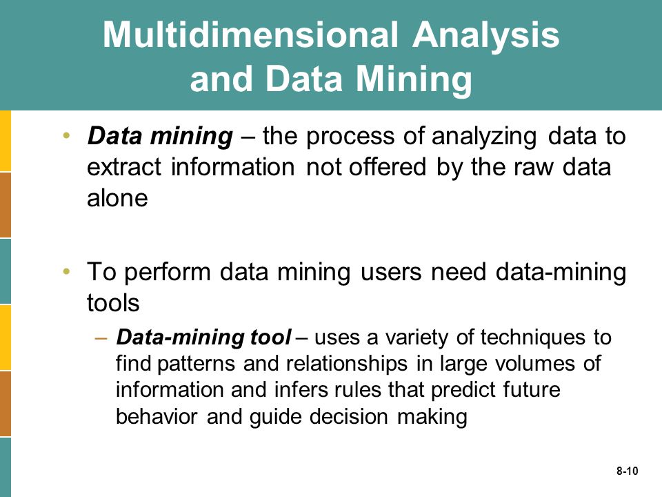 Multidimensional Analysis and Data Mining