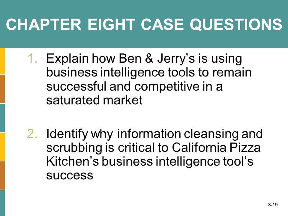 CHAPTER EIGHT CASE QUESTIONS