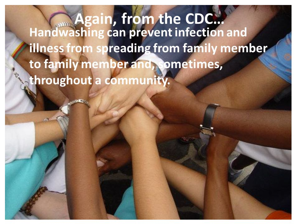Again, from the CDC…