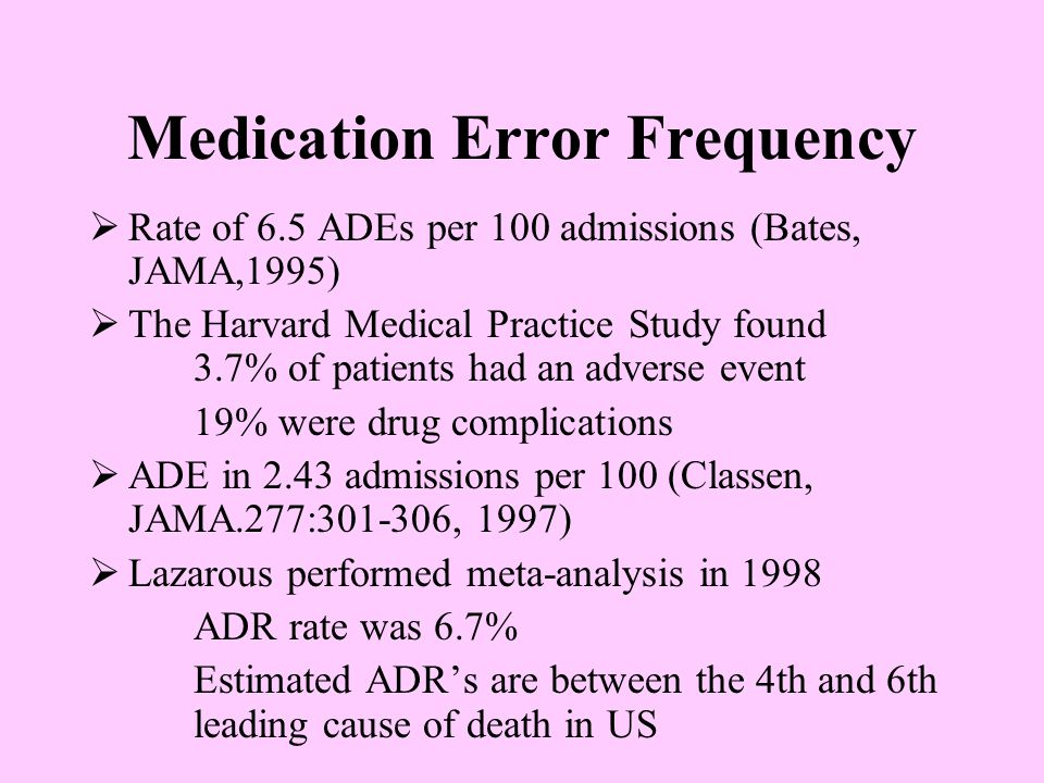 Medication Error Frequency