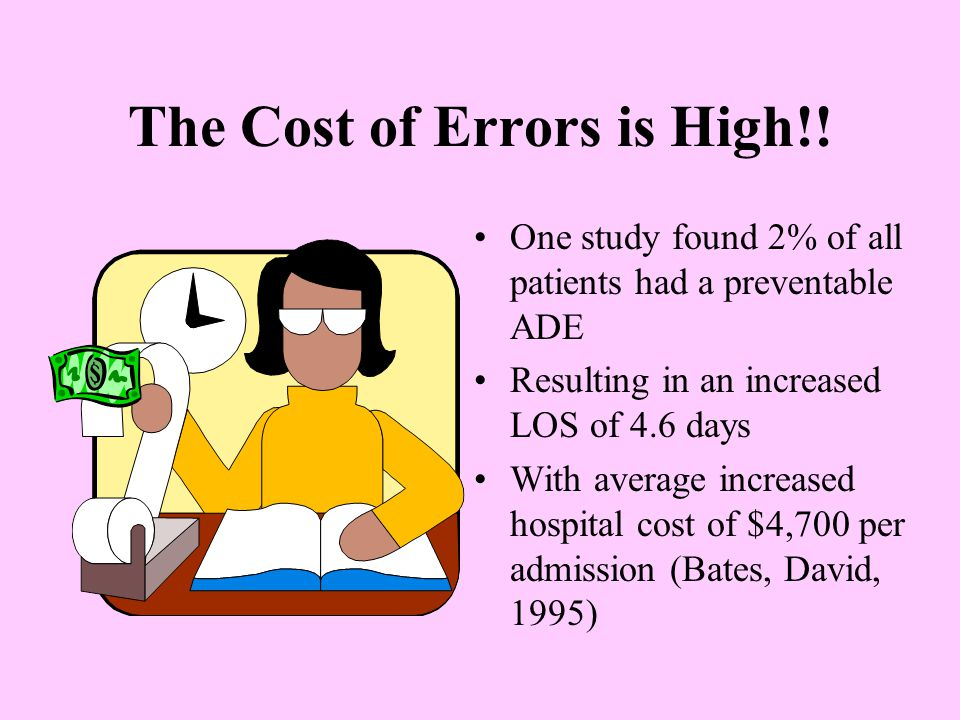 The Cost of Errors is High!!