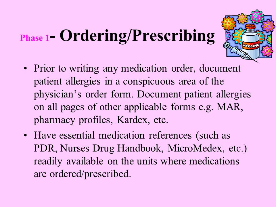 Phase 1- Ordering/Prescribing