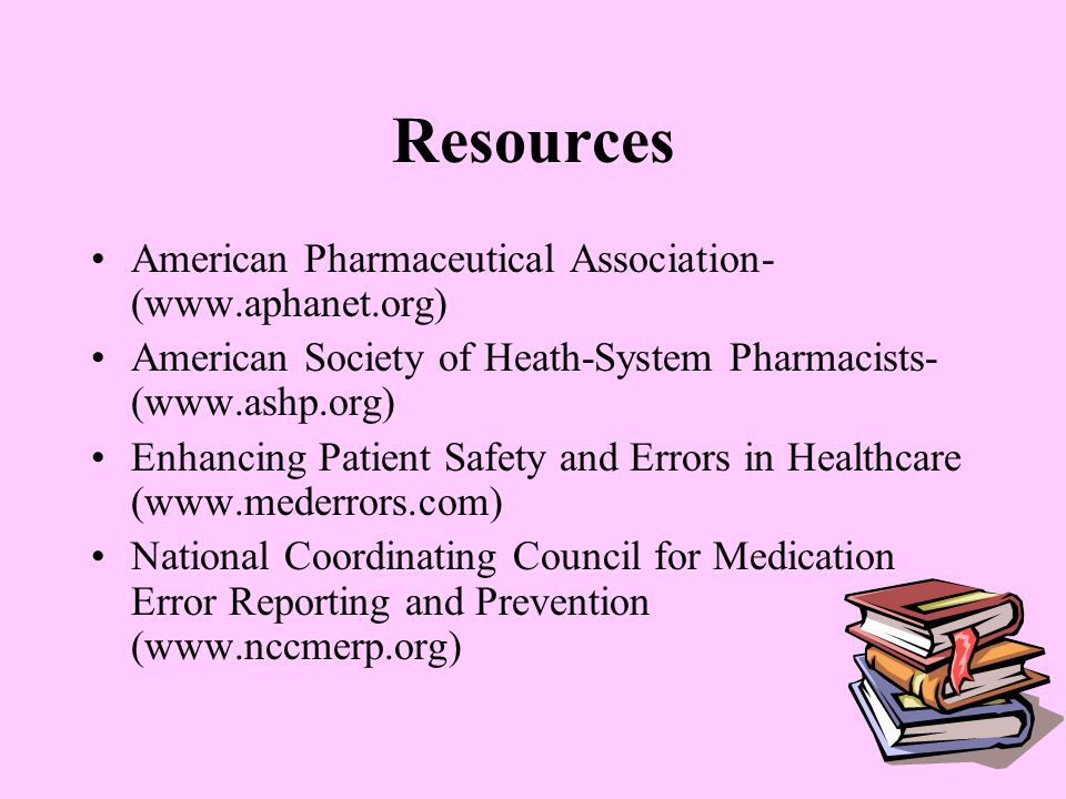 Resources American Pharmaceutical Association- (